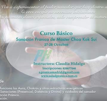 CURSO BÁSICO DE SANACIÓN PRÁNICA EN MADRID
