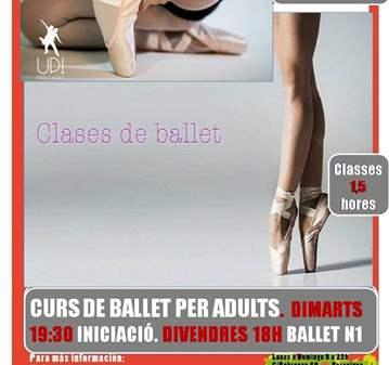 CURSO DE BALLET CLÁSICO INICIACIÓN - ADULTOS
