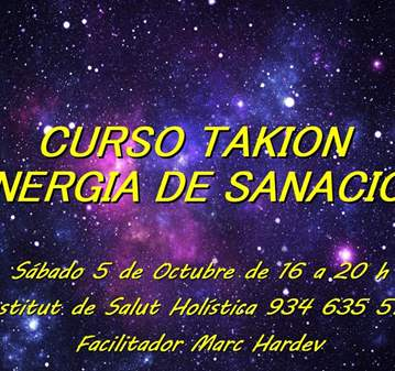TALLER: CURSO DE ENERGÍA DE SANACIÓN TAKIÓN
