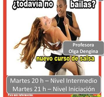CURSO DE SALSA CUBANA - NIVEL INICIACIÓN