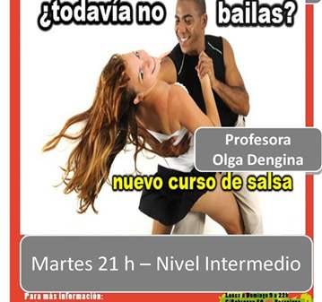 CURSO DE SALSA CUBANA - NIVEL INTERMEDIO