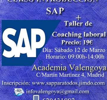 CURSO INTRODUCCIÓN SAP+TALLER DE COACHING LABORAL