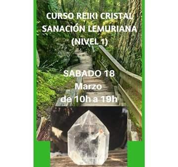 CURSO REIKI CRISTAL SANACIÓN LEMURIANA 1 NIVEL