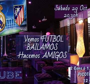 FIESTA: REAL MADRID/ATLETICO MADRID Y BAILE - E...