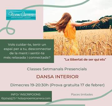 CLASE: DANSA INTERIOR - COACHING EN MOVIMENT