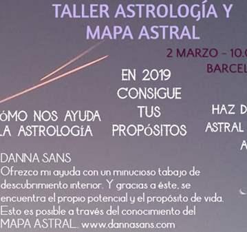 TALLER: DE ASTROLOGÍA Y CARTA ASTRAL