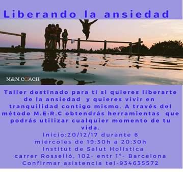 TALLER: LIBERANDO LA ANSIEDAD