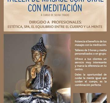 TALLER: DE MASAJE CORPORAL CON MEDITACIÓN
