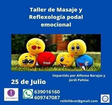 TALLER: DE MASAJE Y REFLEXOLOGÍA PODAL EMOCIONAL