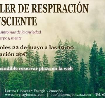 TALLER: DE RESPIRACIÓN CONSCIENTE