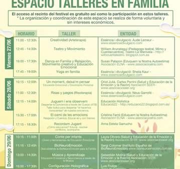 ESPACIO TALLERES EN FAMILIA, FESTIVAL JIWAPOP