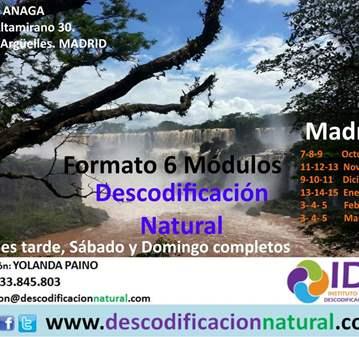 CURSO: DESCODIFICACION NATURAL 6 MODULOS MADRID