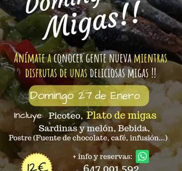 EVENTO: DOMINGO DE MIGAS