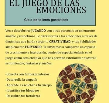 TALLER: CICLO - EL JUEGO DE LAS EMOCIONES