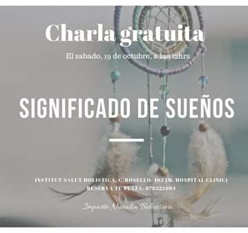 CHARLA: GRATUITA EL SIGNIFICADO DE LOS SUEÑOS