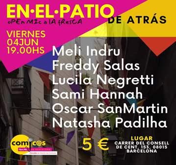 EVENTO: EN EL PATIO DE ATRÁS - MONÓLOGOS VIERNE...