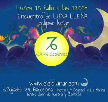 EVENTO: ENCUENTRO DE LUNA LLENA/ECLIPSE LUNAR