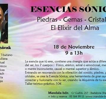 TALLER: ESENCIAS SÓNICAS · ELIXIR DEL ALMA