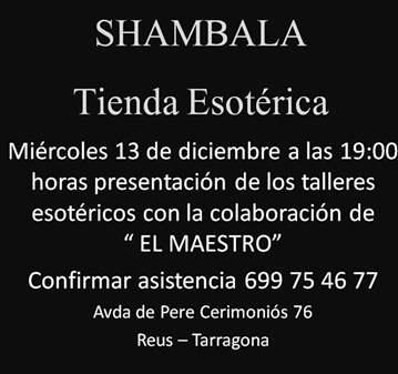 EVENTO GRAUITO PRESENTACIÓN TALLERES ESOTÉRICOS