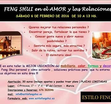 TALLER: FENG SHUI PARA EL AMOR Y LAS RELACIONES