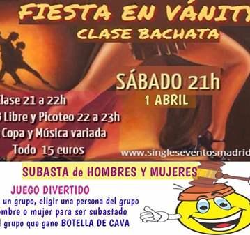 FIESTA CLASE BACHATA+JUEGO+PICOTEO+B LIBRE+COPA