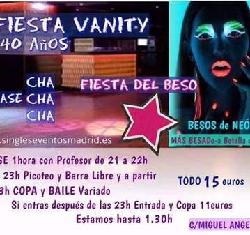 FIESTA BESO Y CHA CHA CHA+PICOTEO+B LIBRE+COPA 15€