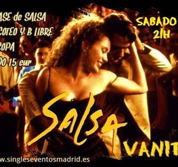 FIESTA CON CLASE DE SALSA+PICOTEO+B LIBRE+COPA=15€