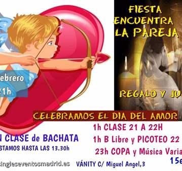 FIESTA AMOR CONBACHATA+PICOTEO+B LIBRE+COPA+REGALO
