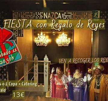 FIESTA CON REGALO DE REYES ( MAYORES 45AÑOS