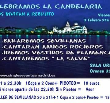 FIESTA: CANTA SALVE-INVITA A REBUJITO+1COPA/2 C...