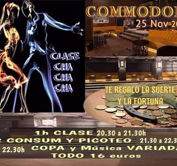 FIESTA REGALOS-CLASE CHA CHA CHA- DESDE 20.30 A 1H
