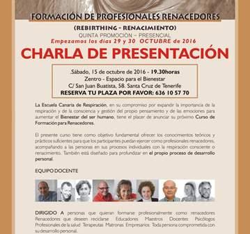 CHARLA: FORMACIÓN DE PROFESIONALES RENACEDORES