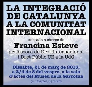 FRANCINA ESTEVE INTEGRACIÓ CATALUNYA INTERNACIONAL