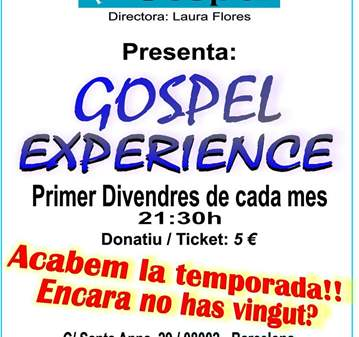 CONCIERTO: GOSPEL EXPERIENCE BY UNITS PEL GOSPEL.