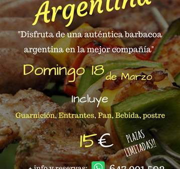 EVENTO: GRAN BARBACOA ARGENTINA DE LA AMISTAD