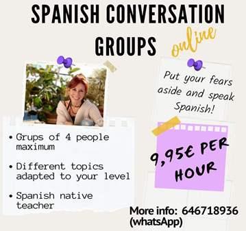 CLASE: GRUPO DE CONVERSACIÓN EN ESPAÑOL ONLINE