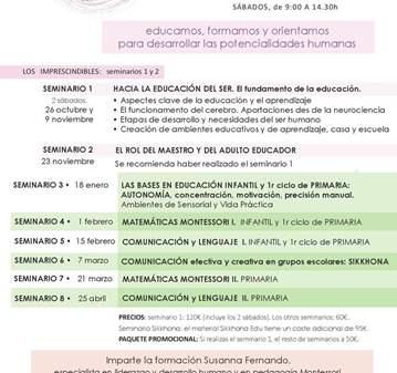 CURSO: HACIA LA EDUCACIÓN DEL SER