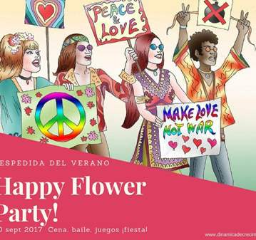 EVENTO: HAPPY FLOWER PARTY - DESPEDIDA VERANO -