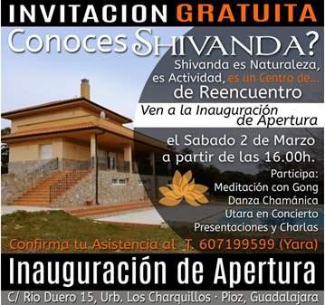 EVENTO: INAUGURACIÓN CENTRO SHIVANDA-ACTIVIDADE...