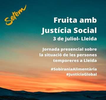 CHARLA: JORNADA FRUTA CON JUSTICIA SOCIAL