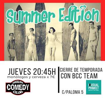 EVENTO: ESPECIAL BARCELONA COMEDY CLUB