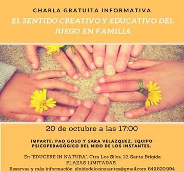 CHARLA: JUGAR EN FAMILIA. EL SENTIDO EDUCATIVO ...