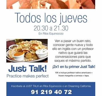 INTERCAMBIO DE IDIOMAS: JUST TALK. INTERCAMBIO ...