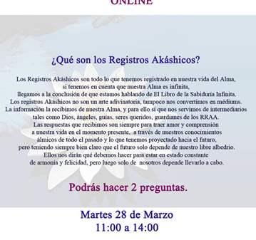 SESIÓN: LECTURA REGISTROS AKÁSHICOS ONLINE
