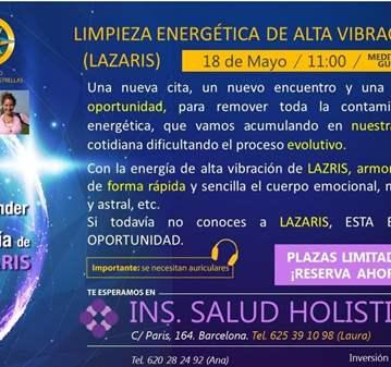 EVENTO: LIMPIEZA ENERGÉTICA DE ALTA VIBRACIÓN
