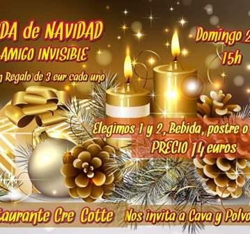 QUEDADA: COMIDA DE  NAVIDAD CON AMIGO INVISIBLE...