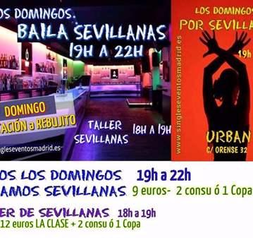LOS DOMINGOS BAILA SEVILLANAS INVITACIÓN REBUJITO