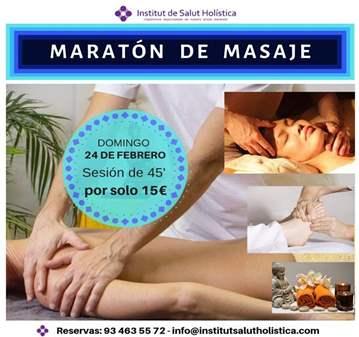 SESIÓN: MARATÓN DE MASAJE