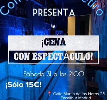 CENA+ ESPECTACULO,MICROTEATRO,IMPROS+MONOLOGO 15 E