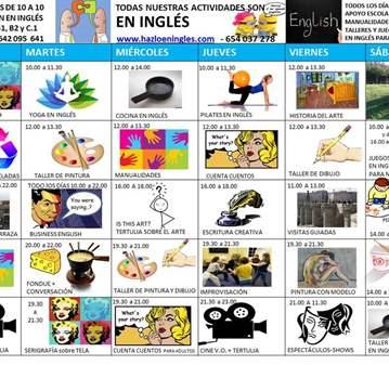 MAS DE 10 ACTIVIDADES DISTINTAS EN INGLÉS